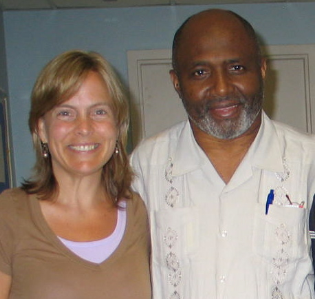 Margaret Trost and Father Gerard Jean-Juste