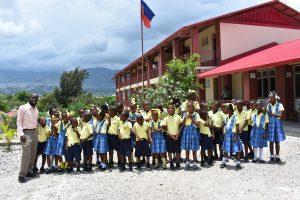 Berto and children IFO school